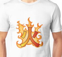 Japanese Kanji - Fire - Hi Unisex T-Shirt