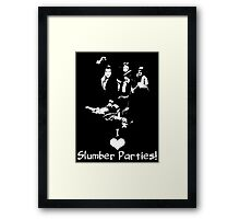 Pulp Fiction Slumber Party! Framed Print