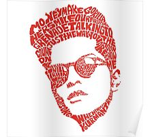 bruno mars thypography RC Poster