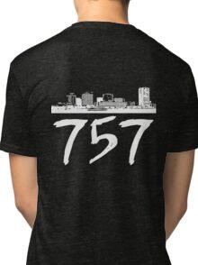 Virginia Beach - 757 (White Logo) Tri-blend T-Shirt