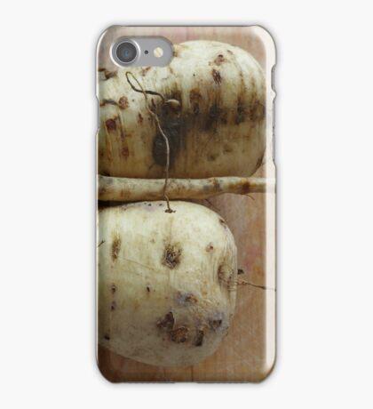Fresh home grown parsnips iPhone Case/Skin