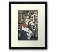 Winged Looff Carousel Pony Framed Print