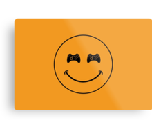 smiley game controller Metal Print