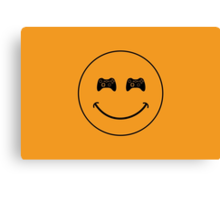 smiley game controller Canvas Print