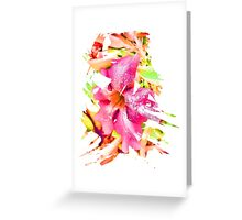 Abstract Flower 5 Greeting Card