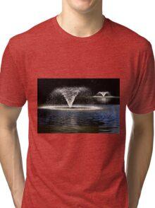Fountain in Quarry Park, Shrewsbury Tri-blend T-Shirt