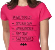 BatGirl To Do List Womens Fitted T-Shirt
