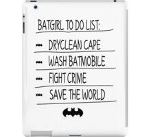 BatGirl To Do List iPad Case/Skin