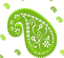 Lime Time Paisley by JessicaADesign
