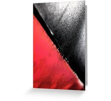 Black vs. Red Greeting Card