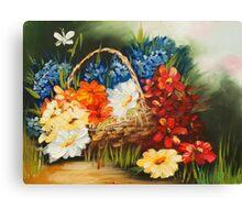 summer basket Canvas Print