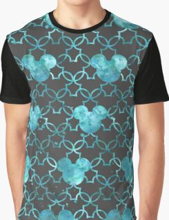 Mouse Ears Watercolor in Aqua Graphic T-Shirt