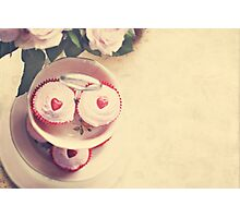 Cupcakes and Hearts Photographic Print