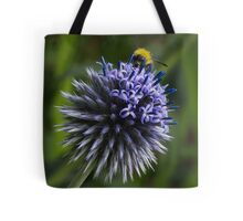 Globe Thistle and the Bee Tote Bag