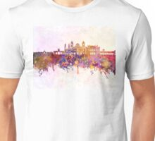 Cadiz skyline in watercolor background Unisex T-Shirt