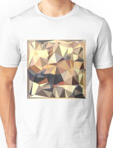 Bisque Gray Abstract Low Polygon Background Unisex T-Shirt