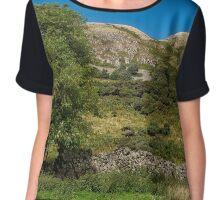The Ochil Hills in Central Scotland Chiffon Top