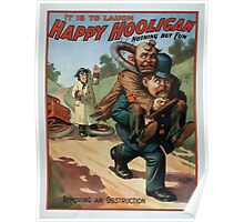 Performing Arts Posters Happy Hooligan it is to laugh nothing but fun 0074 Poster