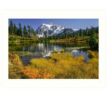 Fall at Picture Lake Art Print