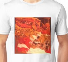 Tomato Red Abstract Low Polygon Background Unisex T-Shirt