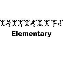 "Sherlock Holmes ""Elementary"" Design Photographic Print"