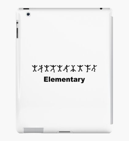 "Sherlock Holmes ""Elementary"" Design iPad Case/Skin"