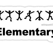 "Sherlock Holmes ""Elementary"" Design Sticker"