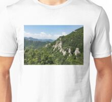Hot White Rocks - a Summer Landscape in the Mountains Unisex T-Shirt