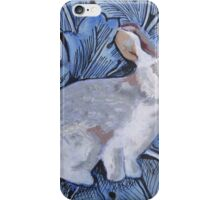 Rabbit on William Morris inspired background iPhone Case/Skin
