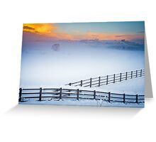 Welsh Winter Sunrise Greeting Card