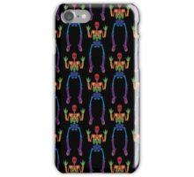Spooky Rainbow Skeletons (black) iPhone Case/Skin