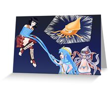 Squid Girl Crossover with RO TKD 3 Greeting Card