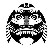 haetae, mythical unicorn lion graphic art Photographic Print