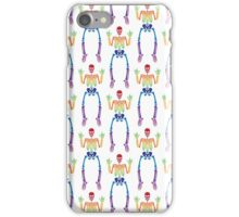 Spooky Rainbow Skeletons (white) iPhone Case/Skin