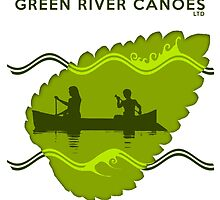 Green River Canoes wave logo by Steven House