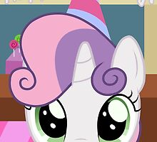 Sweetie Belle Birthday Card - Postcard My Little Pony by FalakTheWolf