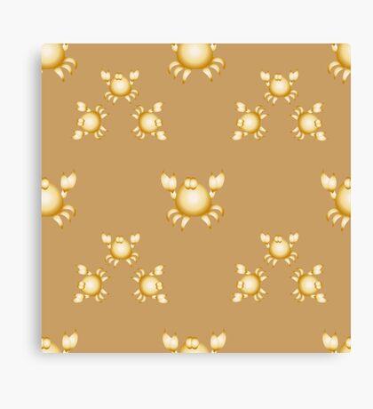 Golden crabs Canvas Print
