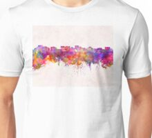 Hobart skyline in watercolor background Unisex T-Shirt