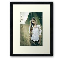 girl with nice smile Framed Print