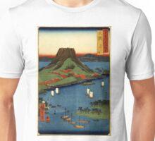 Osumi - Hiroshige Ando - 1854 - woodcut Unisex T-Shirt