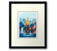 Golden Hearted Captain Framed Print