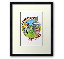 Adventure of Time Framed Print