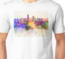 Leon skyline in watercolor background Unisex T-Shirt