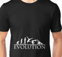 Bboying Evolution (white) Unisex T-Shirt