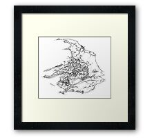Raasay- Exploded Framed Print