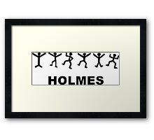 Sherlock Holmes Design Framed Print