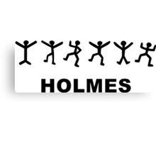 Sherlock Holmes Design Canvas Print