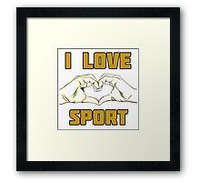 sport design Framed Print