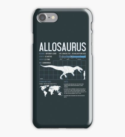 Allosaurus Dinosaur Science Facts  iPhone Case/Skin