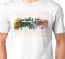Peoria skyline in watercolor background Unisex T-Shirt